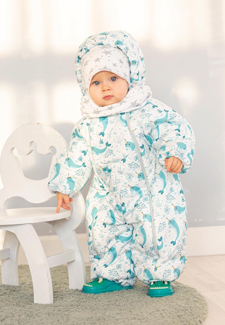 Демисезонный комбинезон для малышей Акварок - Сонный Гномик